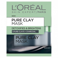 L'ORÉAL Pure Clay Detoxifying & Brightening Charcoal Mask 50 mL