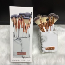 BH Cosmetics – 12 Piece Makeup Brush Set (White Marble)